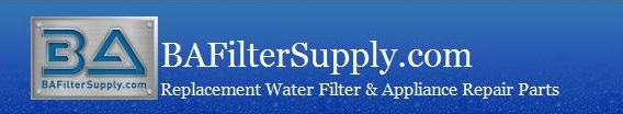 BAFilterSupply.com Appliance Repair Parts & Replacement Water Filters
