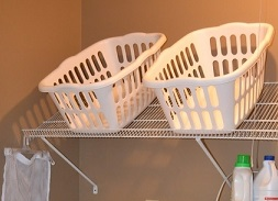 Genious laundry room storage idea