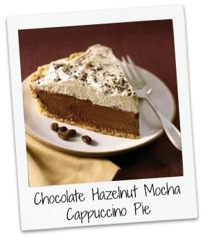 Chocolate Hazelnut Mocha Cappuccino Pie ~ the recipe