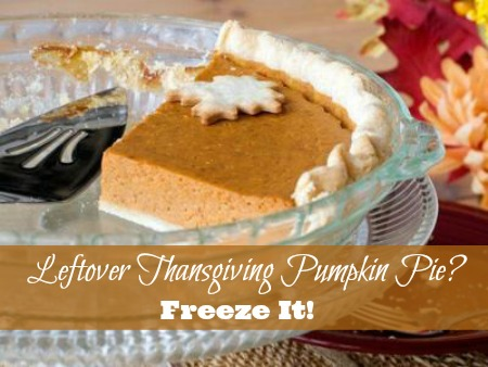Leftover Thanksgiving Pumpkin Pie