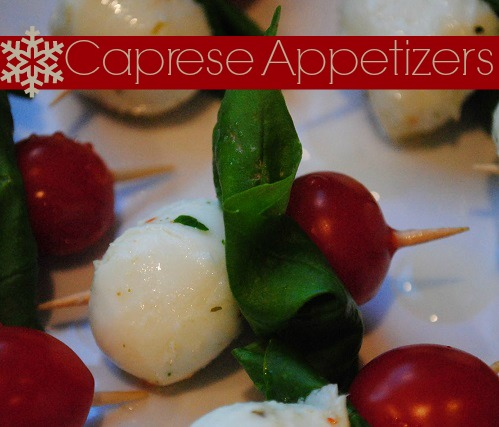 Caprese Appetizers ~ the recipe